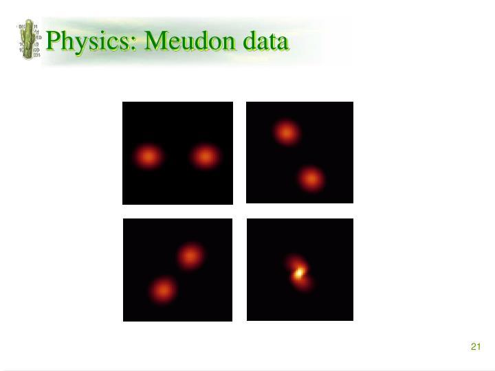 Physics: Meudon data