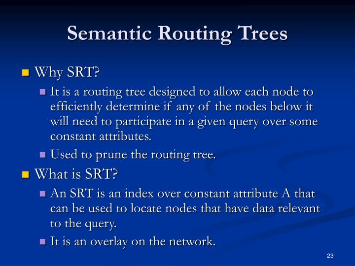 Semantic Routing Trees
