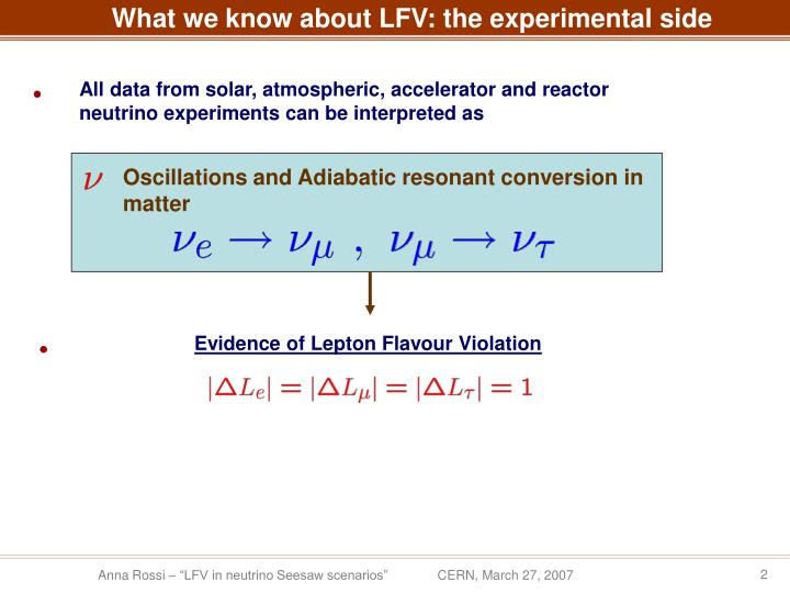 What we know about LFV: the experimental side