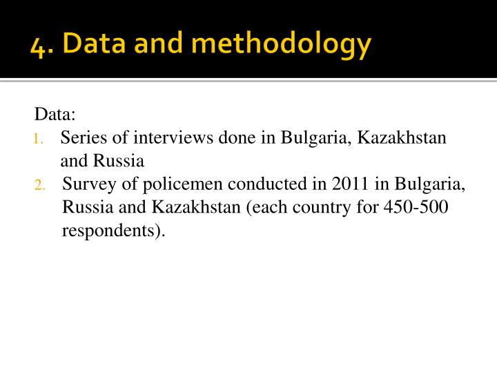 4. Data and methodology