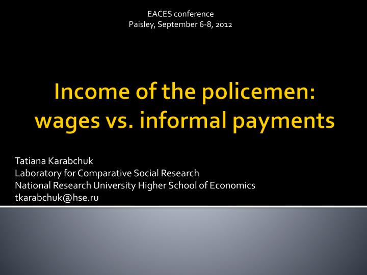 EACES conference