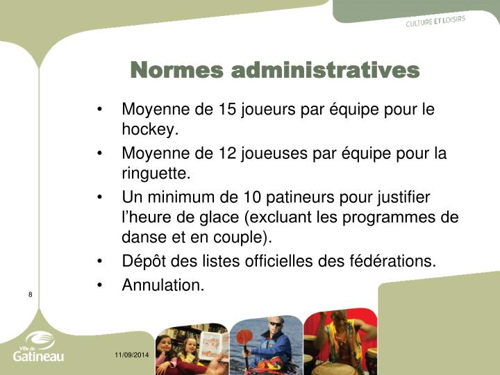 Normes administratives