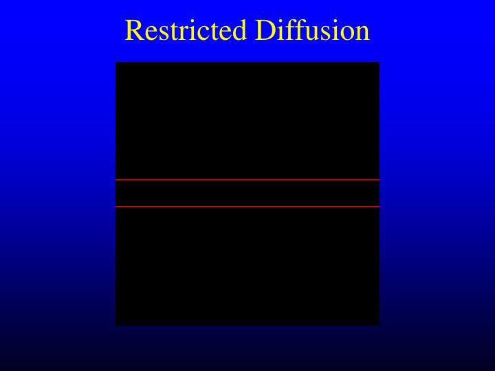 Restricted Diffusion