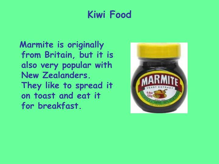 Kiwi Food