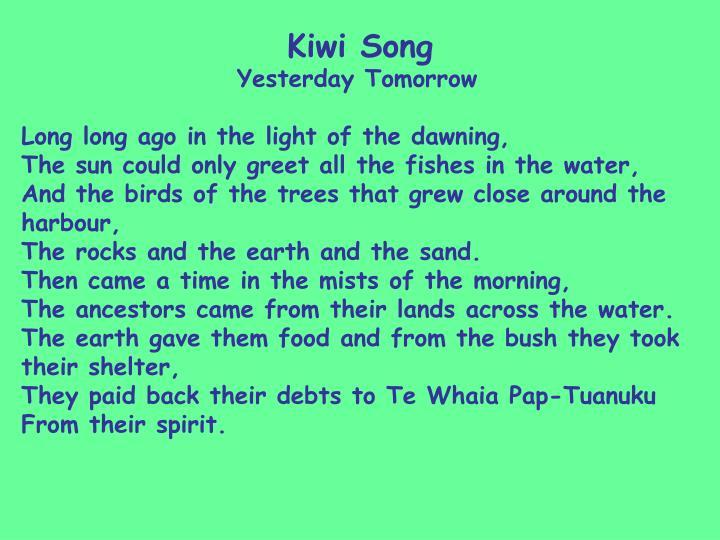 Kiwi Song