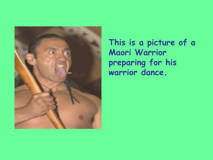 This is a picture of a Maori Warrior preparing for his warrior dance
