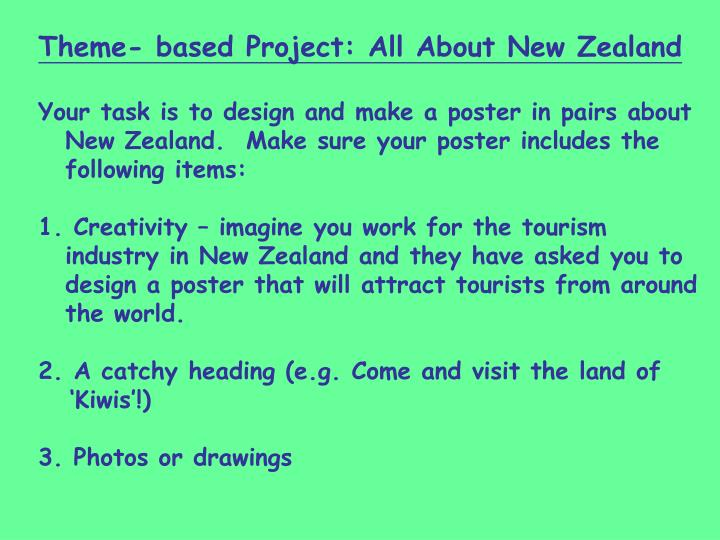 Theme- based Project: All About New Zealand