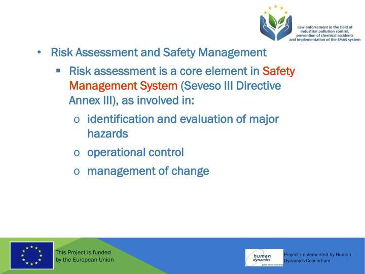 Risk Assessment and Safety Management