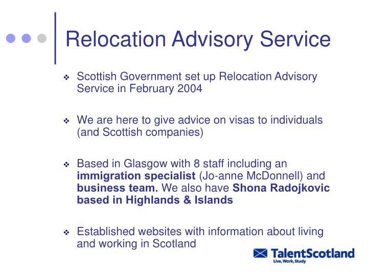Relocation Advisory Service