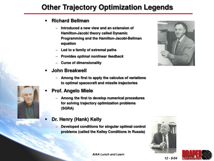 Other Trajectory Optimization Legends