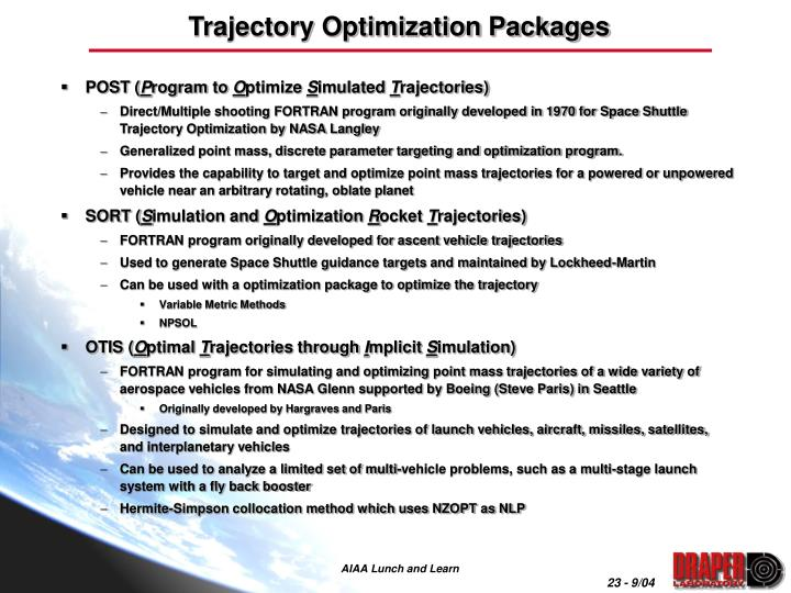 Trajectory Optimization Packages