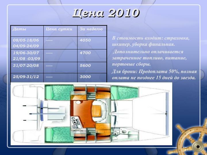 Цена 2010