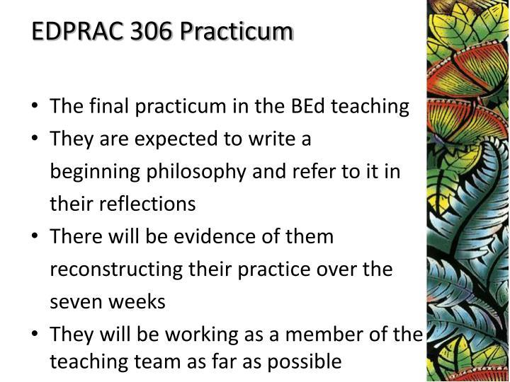 EDPRAC 306 Practicum