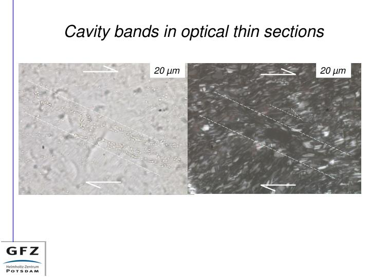 Cavity bands in optical thin sections