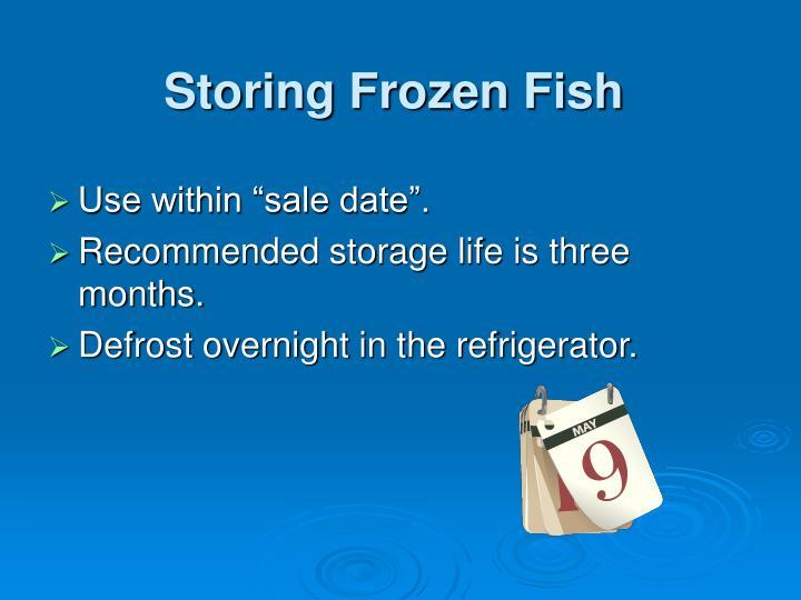 Storing Frozen Fish