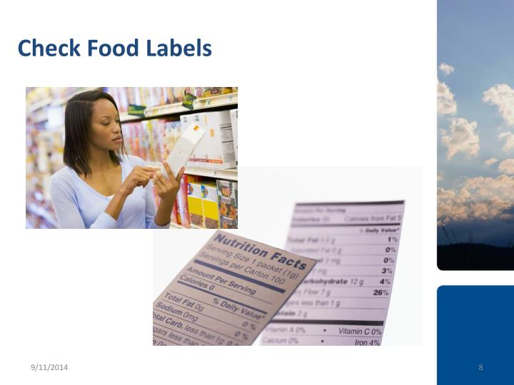 Check Food Labels
