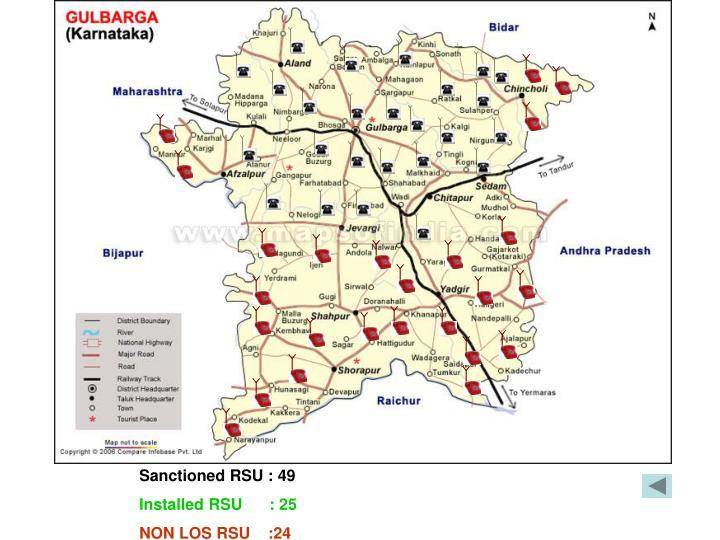 Sanctioned RSU : 49