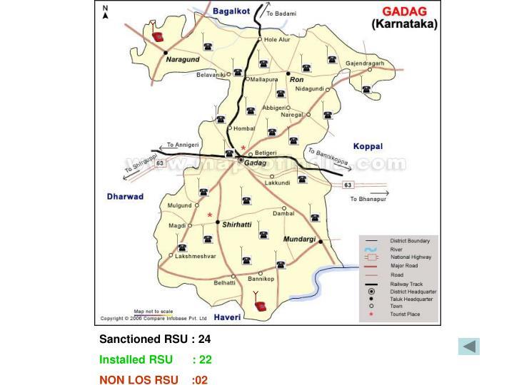 Sanctioned RSU : 24