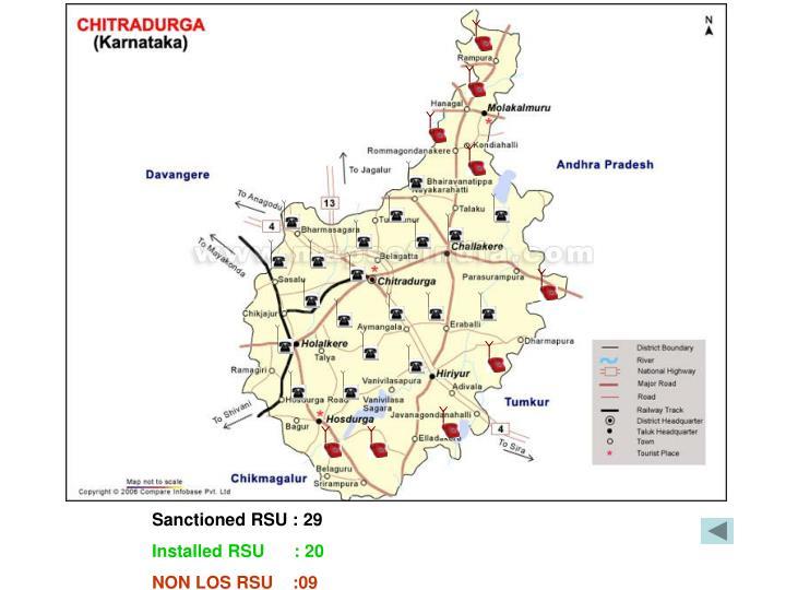 Sanctioned RSU : 29