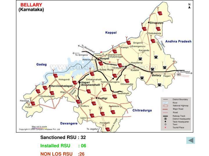 Sanctioned RSU : 32