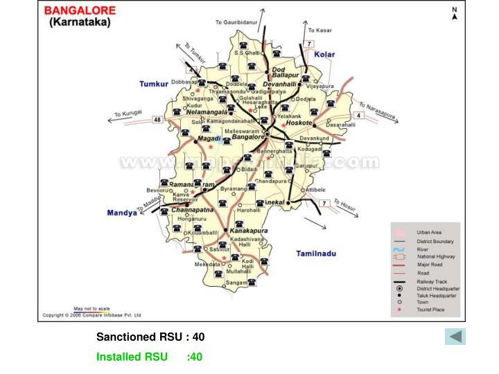 Sanctioned RSU : 40