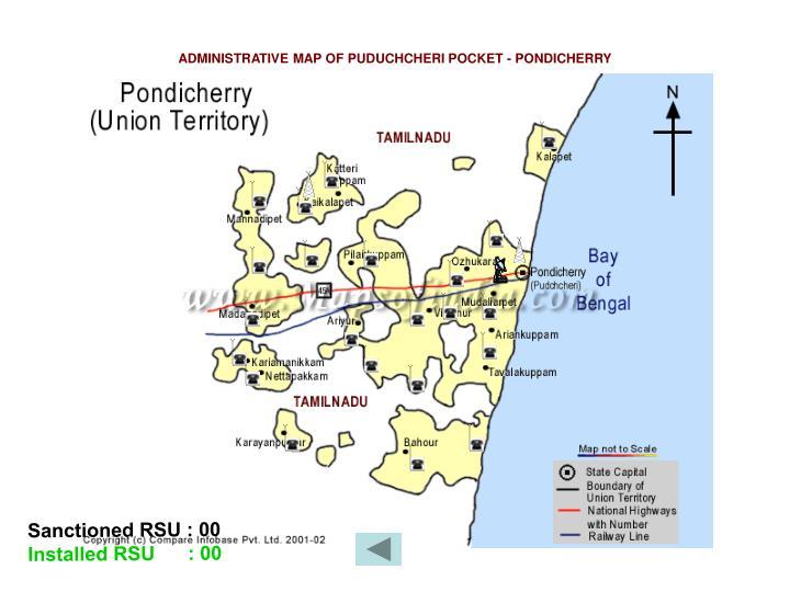 ADMINISTRATIVE MAP OF PUDUCHCHERI POCKET - PONDICHERRY