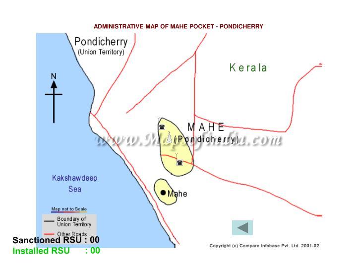 ADMINISTRATIVE MAP OF MAHE POCKET - PONDICHERRY