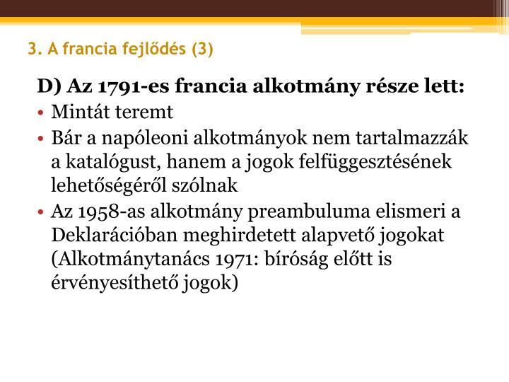 3. A francia fejlődés (3)