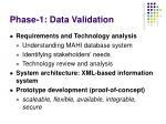 phase 1 data validation