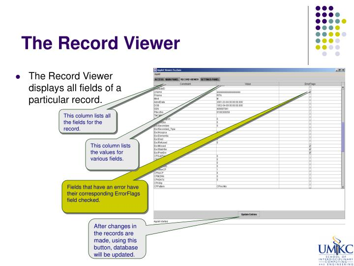 The Record Viewer