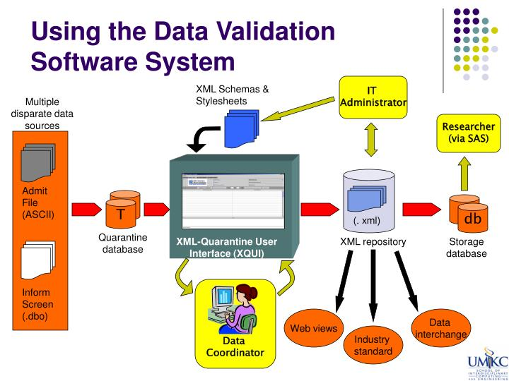 Using the Data Validation Software System