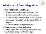 what s next data integration