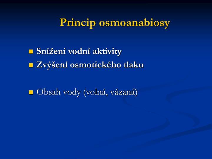 Princip osmoanabiosy