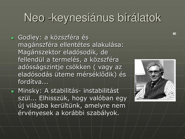 Neo -keynesiánus bírálatok