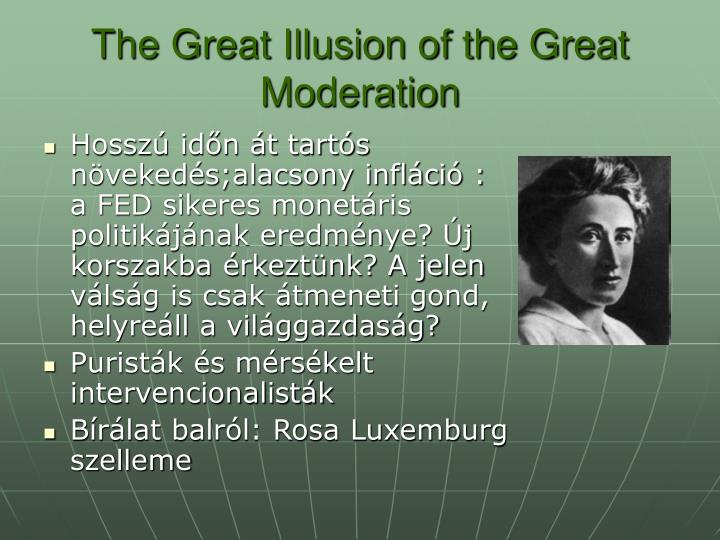 The Great Illusion of the Great  Moderation