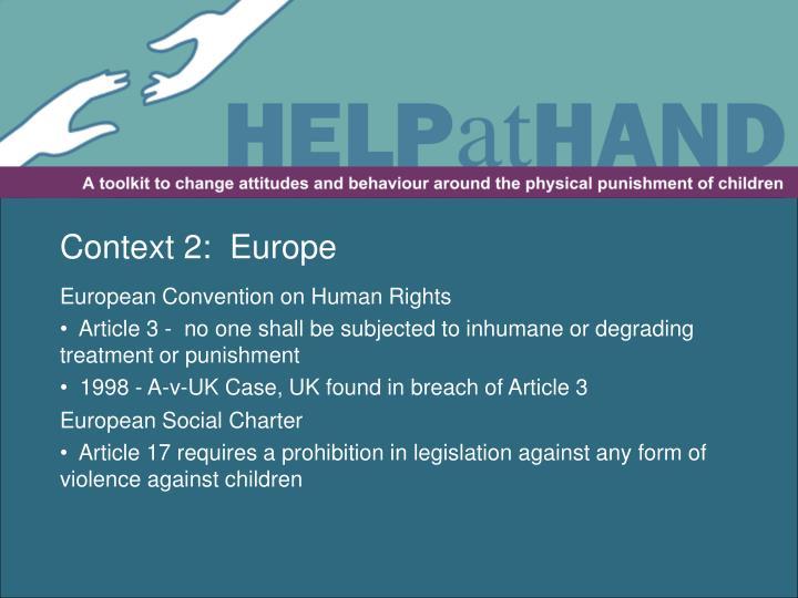 Context 2:  Europe