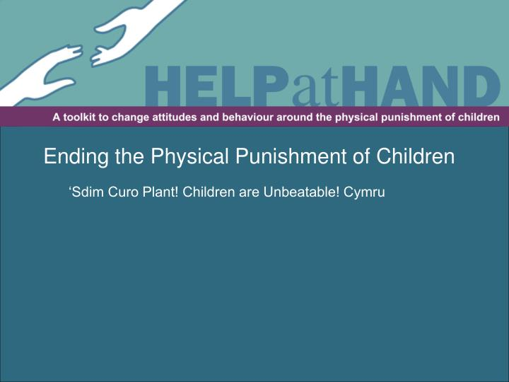 Ending the Physical Punishment of Children