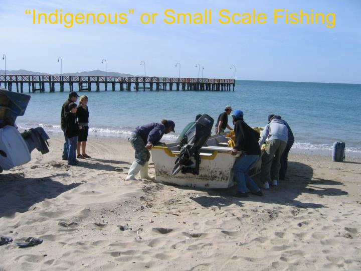 """Indigenous"" or Small Scale Fishing"