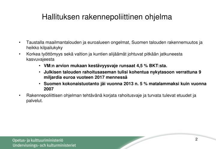 Hallituksen rakennepoliittinen ohjelma