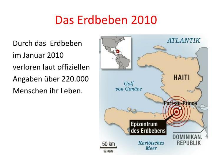 Das Erdbeben 2010