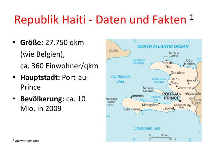 Republik Haiti - Daten und Fakten