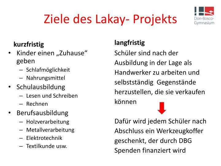 Ziele des Lakay- Projekts