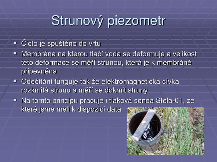 Strunový piezometr