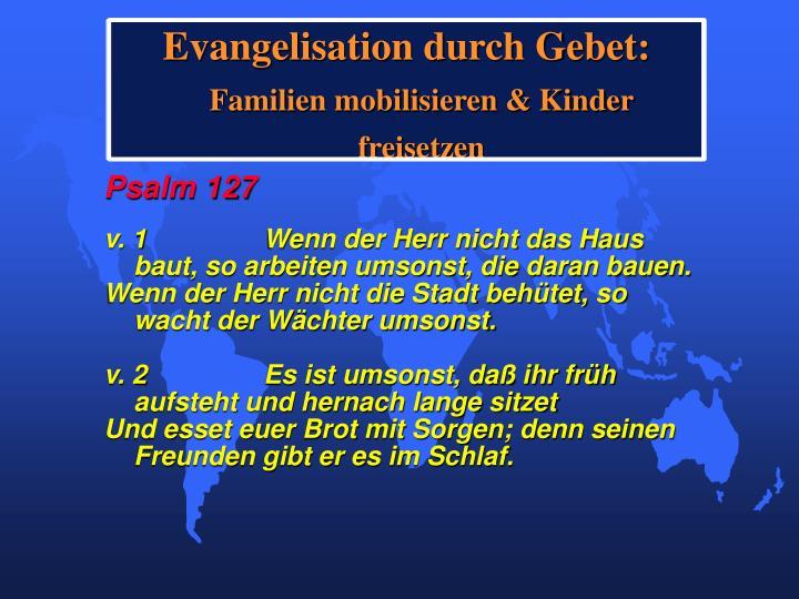 Evangelisation durch Gebet: