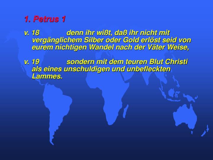 1. Petrus 1