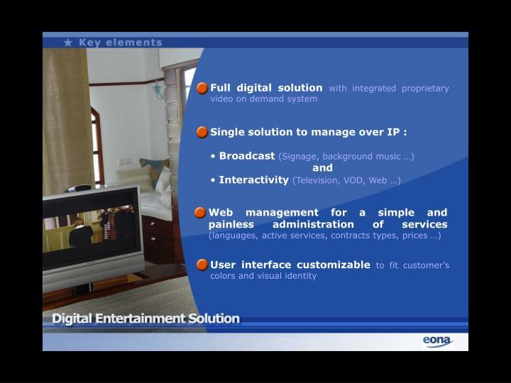 Full digital solution