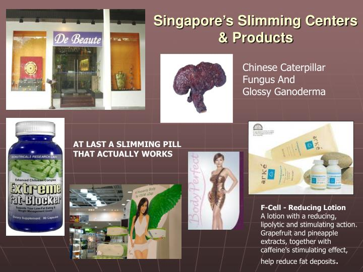 Singapore's Slimming Centers & Products