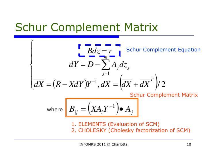 Schur Complement Matrix