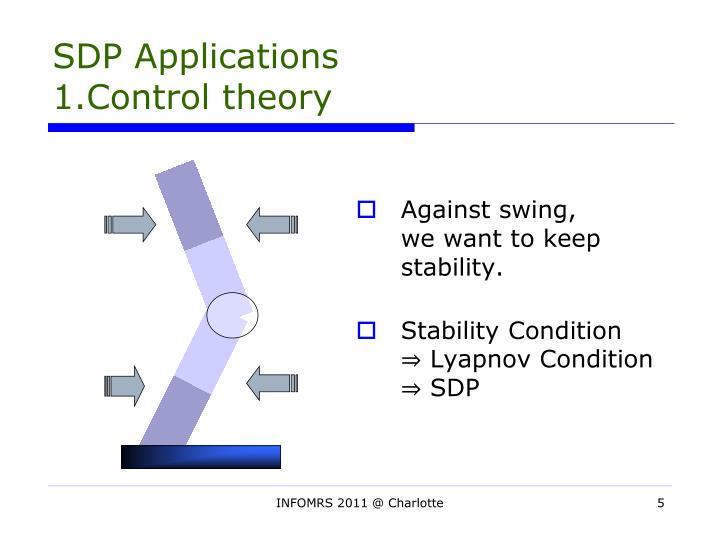 SDP Applications