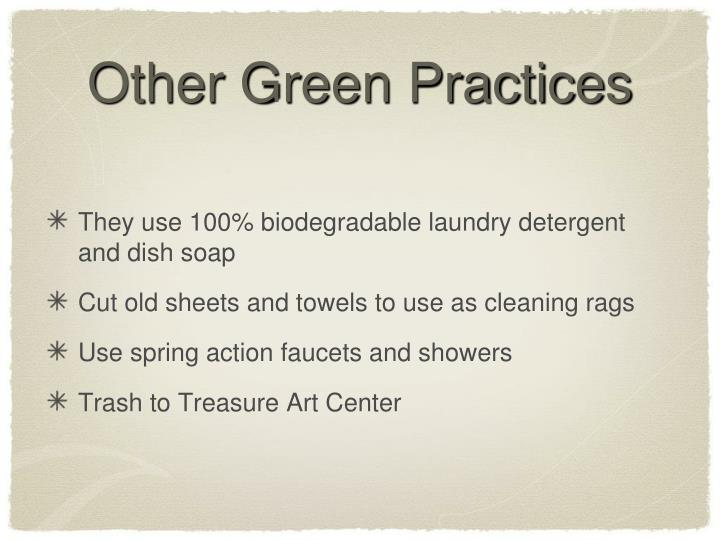 Other Green Practices